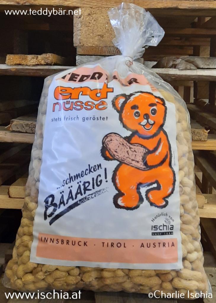 Teddybär Erdnüsse - frisch geröstet in Tirol !